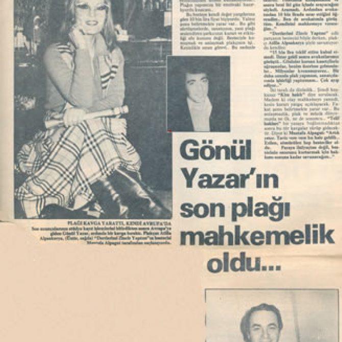 gönül yazar eski gazete küpür